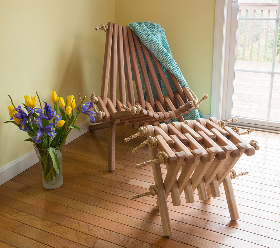 African-Mahogany-Chair-with-Table